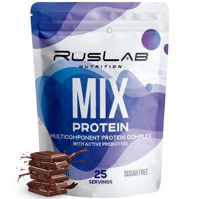 Протеин RusLabNutrition MIX Protein шоколад, 800 г - Фото 1