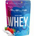 Протеин RusLabNutrition Whey Protein 75% (950г) клубника
