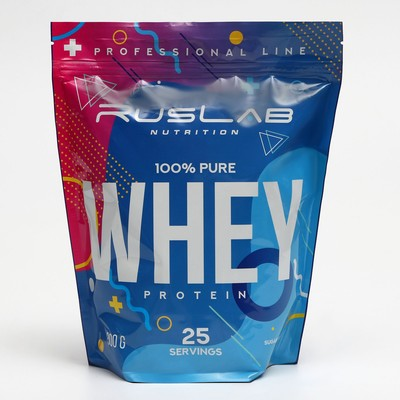 Протеин RusLabNutrition Whey Protein 75 %, ваниль, 800 г - Фото 1