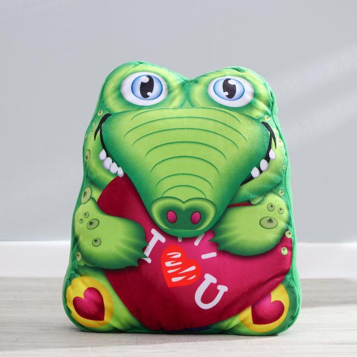 Мягкая игрушка Крокодил, с сердцем