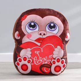 Мягкая игрушка «Обезьянка», с сердцем Ош
