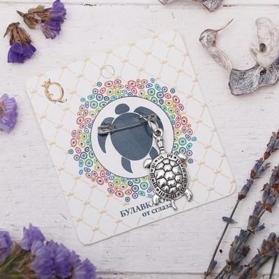 "Булавка-оберег ""Для мудрых решений"", 6см, цвет серебро"