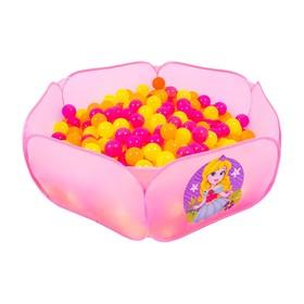 Шарики для сухого бассейна с рисунком «Флуоресцентные», диаметр шара 7,5 см, набор 30 штук, цвет оранжевый, розовый, лимонный Ош