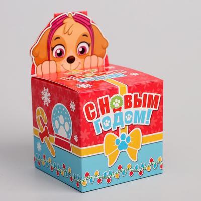 Подарочная коробка «С Новым Годом!», PAW PATROL, 8 х 8 х 8 см