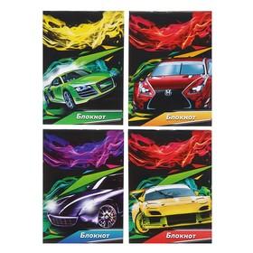 Блокнот А7, 40 листов на скрепке Calligrata «Авто и скорость», обложка картон хром-эрзац Ош