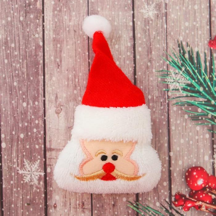 Декор для творчества — мягкая игрушка «Дед Мороз», 6,5 × 7,5 × 3 см, набор 2 шт.