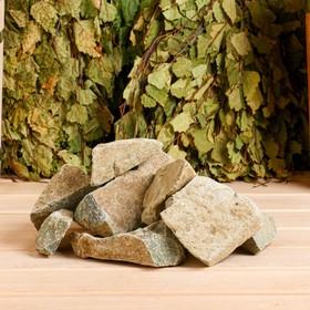 Камень для бани 'Порфирит' колотый, коробка 20 кг Ош