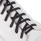 Шнурки с круглым сечением, d = 4,5 мм, 110 см, цвет чёрный