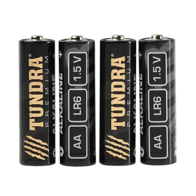 Батарейка алкалиновая TUNDRA, AA, LR6 спайка, 4 шт