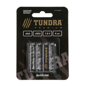 Батарейка алкалиновая TUNDRA, AAA ,LR3, блистер, 4 шт