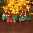 Сувенир «Новогодний поезд», 19 см, цвет зелёный - Фото 2