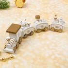 Сувенир «Новогодний поезд», 19 см, цвет белый - Фото 3