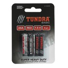 Батарейка солевая TUNDRA Super Heavy Duty, AAA, R03, блистер, 4 шт