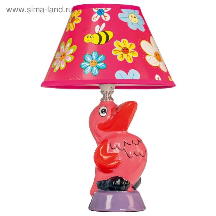 Настольная лампа Evan 40Вт E14 розовый 20x20x30см
