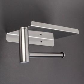 Держатель для туалетной бумаги с полочкой, 18×10×9 см, хром Ош