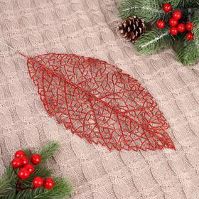 Декор блеск 'Берёзовый лист' 14*28 см, микс Ош