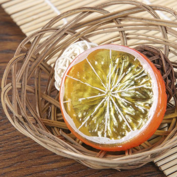 Муляж кусочек апельсин d-5 см (фасовка 10шт, цена за 1шт)