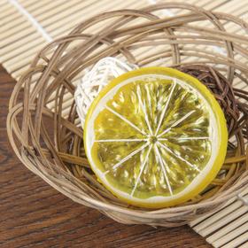 Муляж кусочек лимон d-5 см (фасовка 10шт, цена за 1шт) Ош