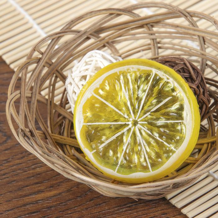 Муляж кусочек лимон d-5 см (фасовка 10шт, цена за 1шт)