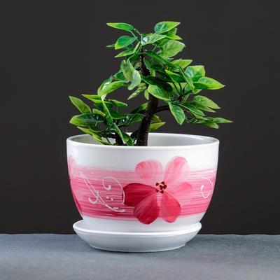 Горшок цветочный Орхидея белая 0,75 л