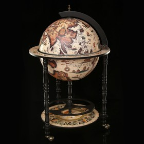 Глобус бар декоративный 'Карта древних греков' 95х58,5х58,5 см Ош