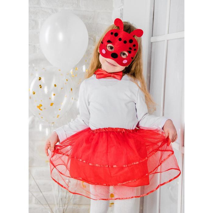 Карнавальный костюм Божья коровка, маска, бабочка