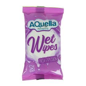 Влажные салфетки AQUELLA, освежающие, 15шт. Ош