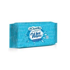AQUELLA Влажные салфетки с антибактериальным эффектом универсальные big-pack 60шт