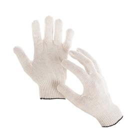 Перчатки, х/б, вязка 10 класс, 4 нити, размер 9, без ПВХ, белые Ош