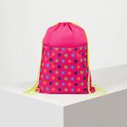 Мешок для обуви, отдел на шнурке, наружный карман на молнии, цвет розовый
