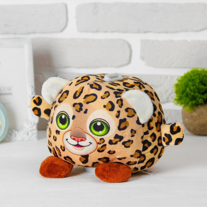 """Мягкая игрушка-копилка """"Леопард"""" со звуком, с подсветкой"""