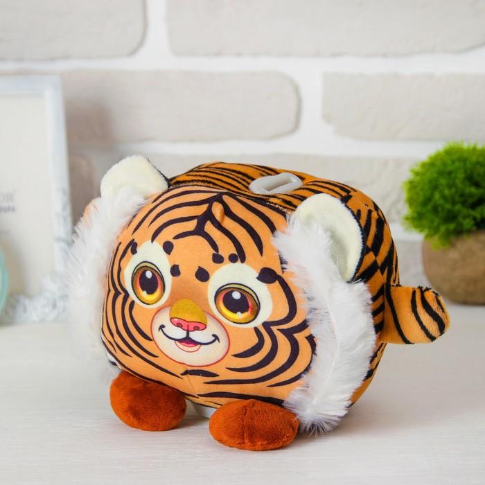 """Мягкая игрушка-копилка """"Тигр"""" со звуком, с подсветкой"""