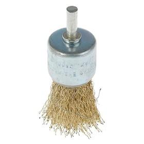 Щетка металлическая для дрели LOM, со шпилькой, 'чашка', 30 мм Ош