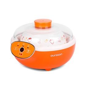 Йогуртница Oursson FE2305D/OR, 20 Вт, 1.5 л, 1 ёмкость, таймер, 3 режима, оранжевая Ош