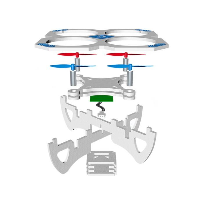 """Квадрокоптер-конструктор """"Собери сам"""", радиоуправляемый, EVA материал"""