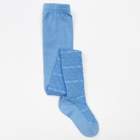 Колготки детские 2ФС73-003, цвет голубой, рост 92-98 см