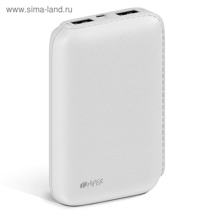 Мобильный аккумулятор Hiper SP7500 Li-Ion 7500mAh 2.1A+1A 2xUSB белый
