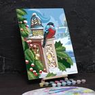"""Роспись по номерам без подрамника """"Снегирь"""" с красками 30 x 40 см"""