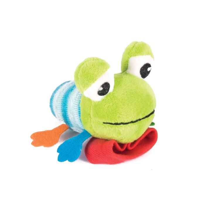 Игрушка-погремушка на ручку «Лягушонок Квака»