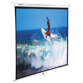 Экран проекционный 150 х 150 см, BRAUBERG WALL, матовый, настенный Ош