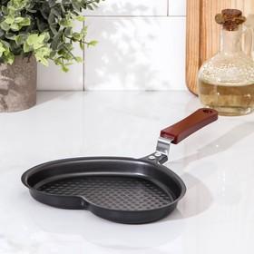 Сковорода «Сердце», d=17 см, антипригарное покрытие, цвет чёрный