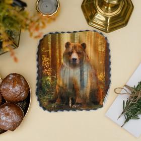 Полотенце «Медведь», 20 × 20 см, микрофибра, 400 г/м² Ош