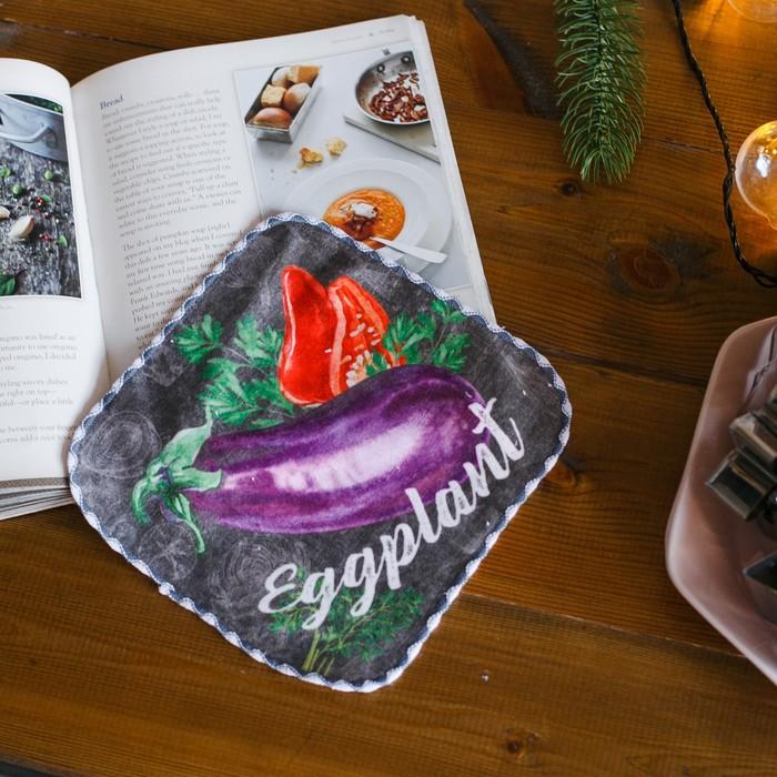 Полотенце «Овощи», 20 × 20 см, микрофибра, 400 г/м²