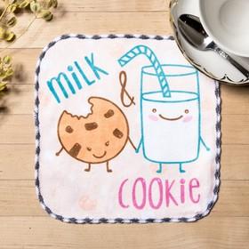 Полотенце микрофибра 'Молоко' 20х20 см Ош