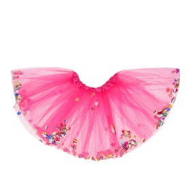 Карнавальная юбка «Кокетка», с конфетти, цвет фуксия Ош