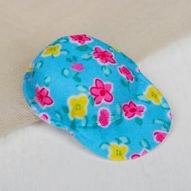 Кепка для кукол, набор 5 шт «Цветочки», цвет голубой Ош