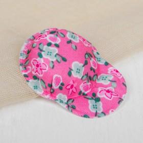 Кепка для кукол, набор 5 шт «Цветочки», цвет розовый Ош