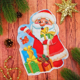 Фреска блестками 'С Новым годом' Дед Мороз Ош