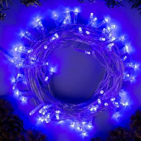 """Гирлянда """"Нить"""", 10 м, LED-100-220V, 8 режимов, свечение синее"""