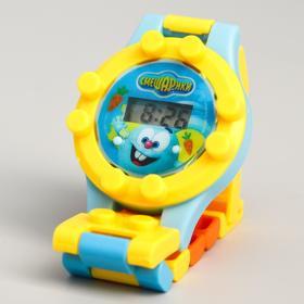 Часы наручные лего, СМЕШАРИКИ 'Крош и Ежик', с ремешком-конструктором Ош